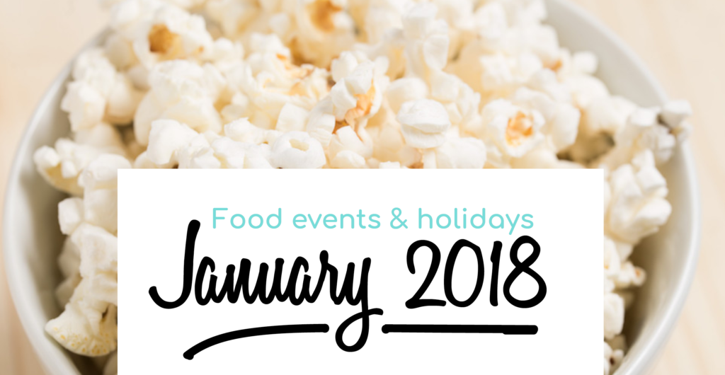 January food events and holidays
