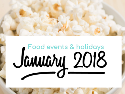 The January food events you should know about