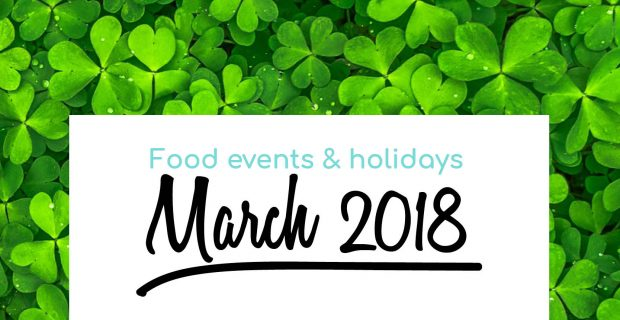 March: foodie inspiration for your menu, decoration and content calendar!